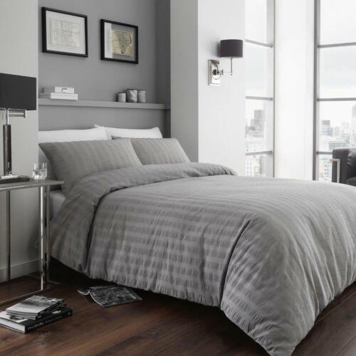 NEW Seersucker Ruffles Crinkle Bedding Duvet Cover Pillowcases All Sizes