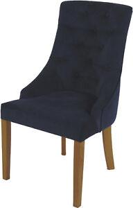 Stuhl Polsterstuhl Esszimmer Sessel Madam Chesterfield Blau