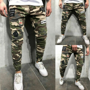 Men-039-s-Combat-Cargo-Jeans-Casual-Outdoor-Military-Army-Camo-Work-Pants-Trousers