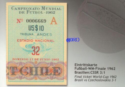 Fußball Weltmeisterschaft 1962 WM Final Ticket Orig Repro Postkarten Serie