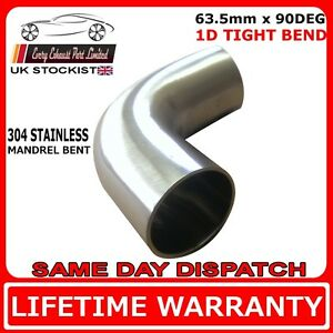 "Car Exhaust 63mm//2.5/"" 304 SS Elbow 90° Pipe Tube Bend Mandrel Stainless Steel"