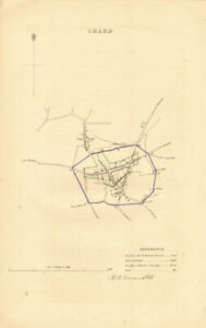 Details about CHARD borough/town plan  BOUNDARY REVIEW  Somerset  DAWSON  1837 old map