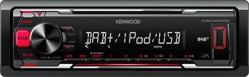Kenwood KMM-DAB403 Autoradio 1-DIN mit DAB  AUX USB Digital Radio Iphone Android