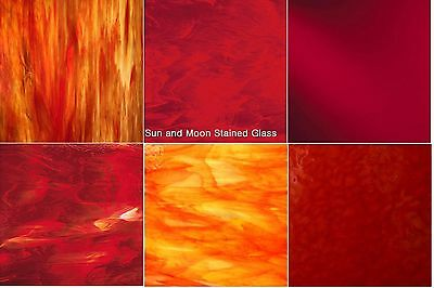 Buy Stained Glass Sheets.8x5 Red Variety Glass Stained Glass Sheets 6 Sheets Ebay