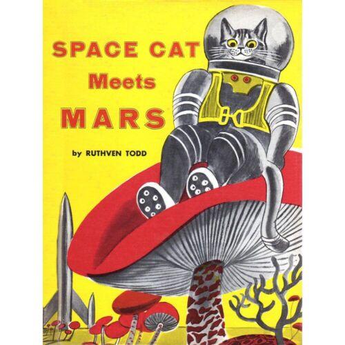 Copertina Space Cat Soddisfa Mars Ruthven Todd Rocket Fungo Uk Framed Print