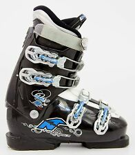 Cute $200 Womens Nordica Easy One 5+ Ski Boots Ladies Black Light Blue All Sizes