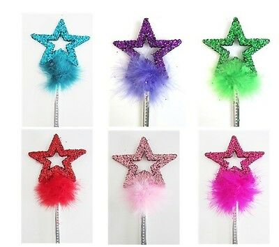 NEW Princess Star Glitter Wand Birthday Party Favor Dress Up Wands Sparkle