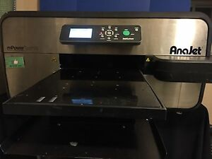 Anajet Mp10i Direct To Garment T Shirt Printer Printing