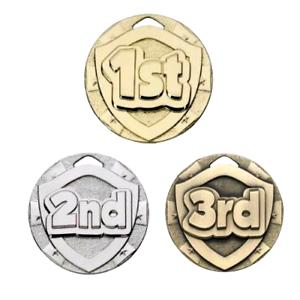1st 2nd 3rd Place 50 mm médailles sportsday-free ruban Gravure /& Livraison au Royaume-Uni.