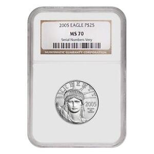 2005-1-4-oz-25-Platinum-American-Eagle-NGC-MS-70