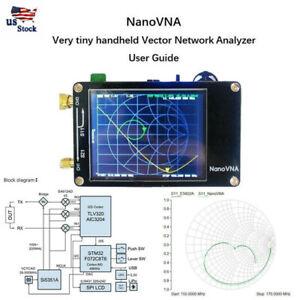 50KHz-900MHz-Vector-Network-Analyzer-Nano-VNA-Kit-MF-HF-VHF-UHF-Antenna-Analyzer