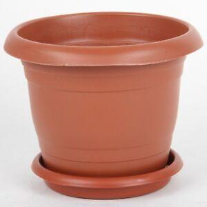 Plastique Pot De Fleur Soucoupes Rainure Base Interieur Exterieur