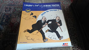 Dupont And Dupond Poster Advertising Total 80 X 60 CM Year 2000 Tintin
