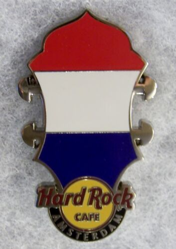 HARD ROCK CAFE AMSTERDAM HEADSTOCK FLAG SERIES PIN # 80537