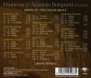 Armonici-labirinti-Bonporti-Sonatas-op-1-for-2-STEFANY-CD-NUOVO