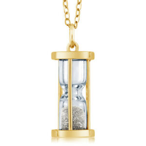 18k-Gold-Plated-Silver-Hourglass-Pendant-with-0-50-Ct-Diamond-Dust-18-034-Chain