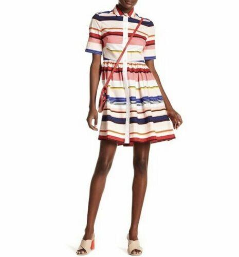 Kate Spade pink striped shirt dress A-line cotton