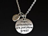 Flight Attendants Are Just Plane Great Necklace, Flight Attendant Necklace
