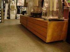 Tan Wood Veneer 2 Drawer Base Storage Dresser Display Store Fixtures Set 2