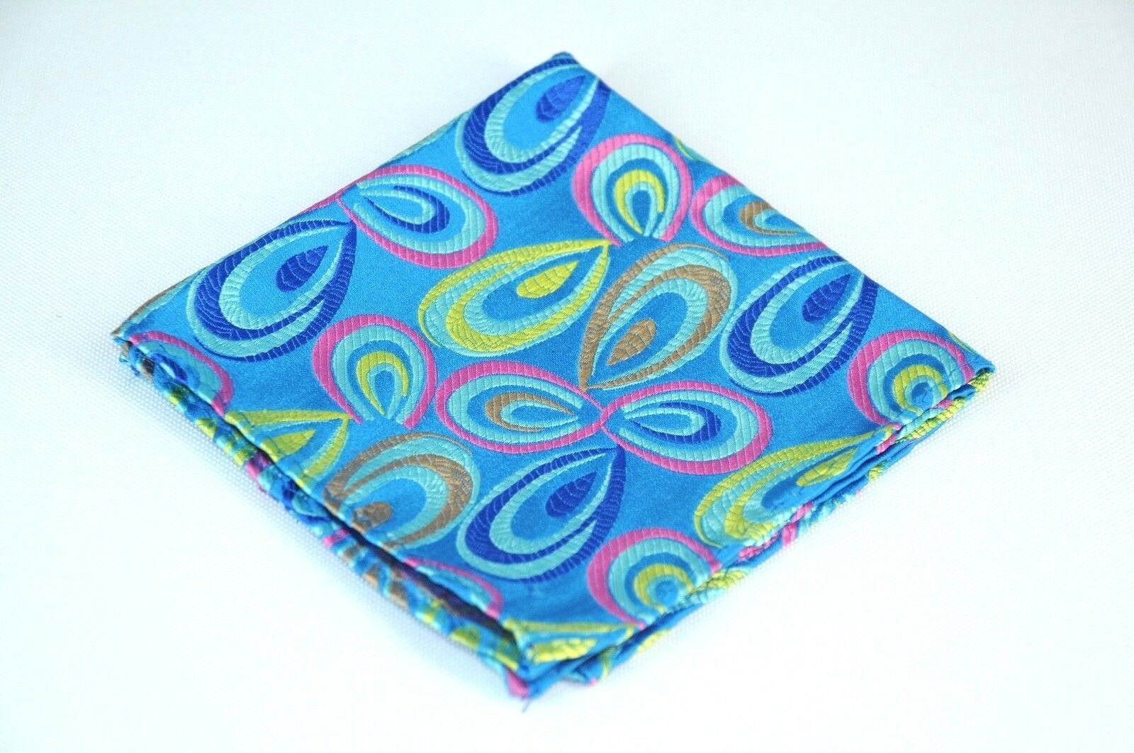 Lord R Colton Masterworks Pocket Square- La Boca Caribbean Silk - Retail New