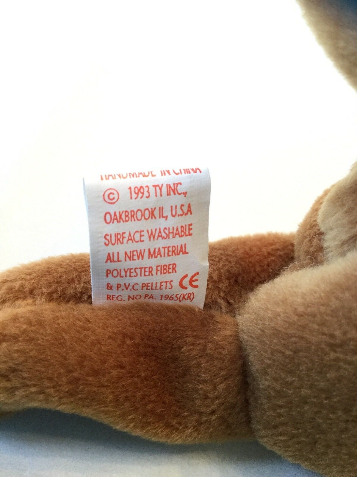 Ty Cubbie the bear Style 4010 4010 4010 with P.V.C. And no comma VERY RARE BEANIE ERRORS 936c9e