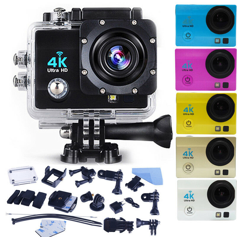 Ultra 4K Full HD 1080P Waterproof Sport Camera WiFi Action Camcorder as Go Pro Featured