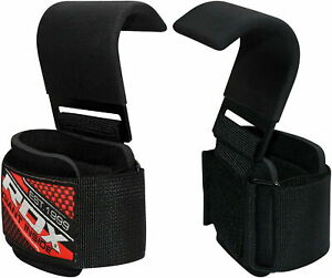 RDX-Weight-Lifting-Hook-Wrist-Straps-Powerlifting-Support-Hand-Grips-Gym-Wraps