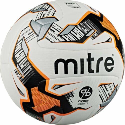 Taille 3 Mitre UltiMatch hyperseam match de football-Blanc Noir Orange