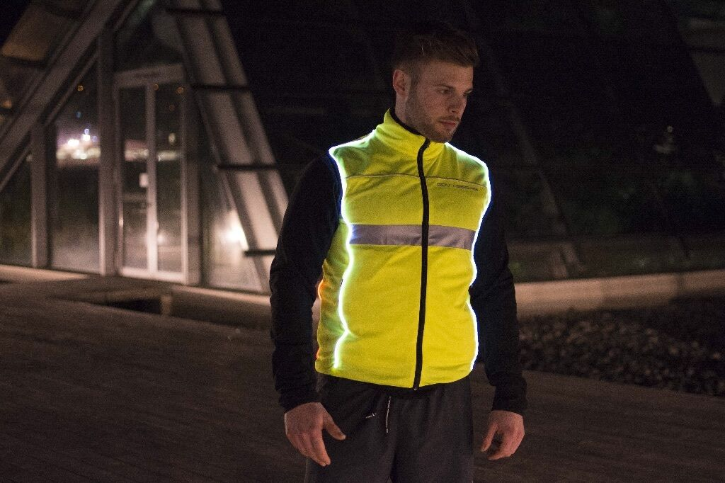 Gilet   Vest Unisex con Led - Running e Bike -Night Vision Vest One - XL