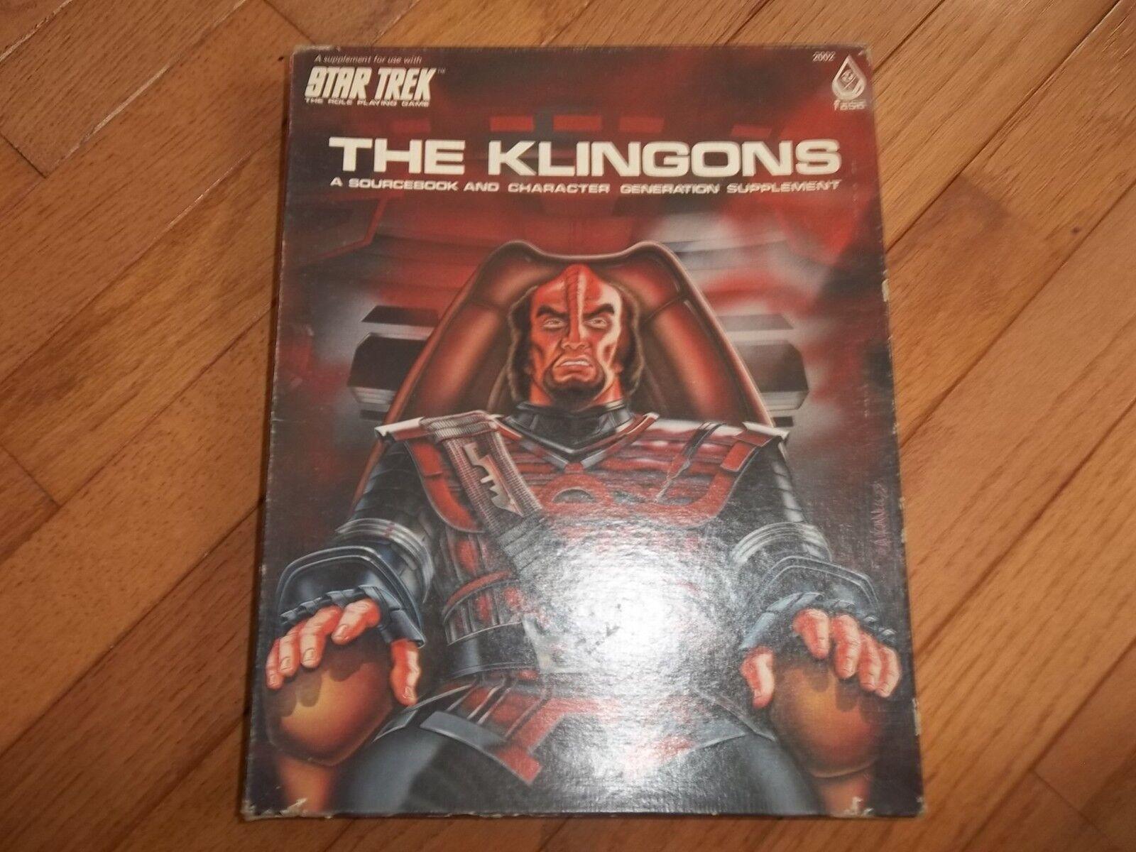FASA Star Trex RPG The Klingons Box Set unpunched.