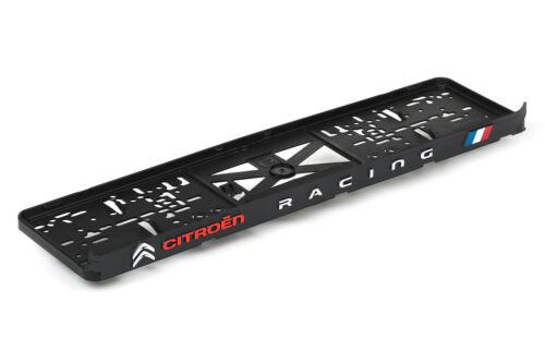 2 Brackets Plate 3D Citroen Racing Sport all Models Standard