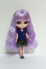 "12"" Takara Neo Blythe Dolls from Factory Nude Dolls Light Purple Long Curls Hair"