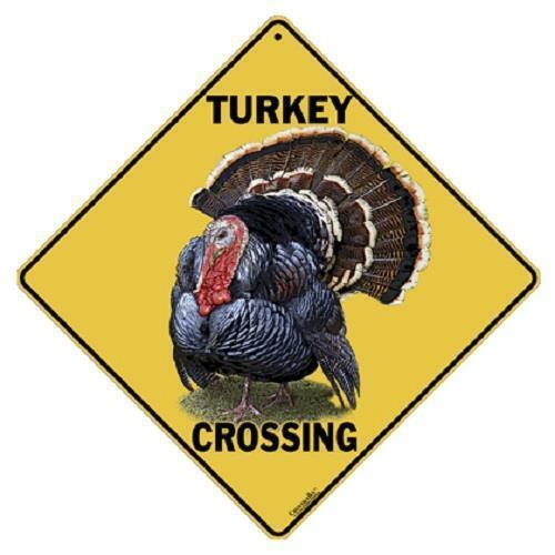 "Turkey Metal Crossing Sign 16 1//2/"" x 16 1//2/"" Diamond shape Made in USA # 412"