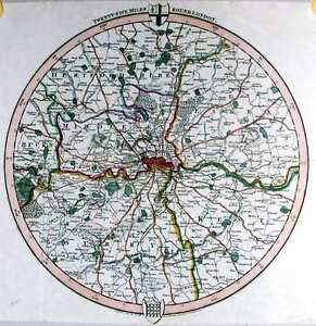 Antique-map-Twenty-five-miles-round-London
