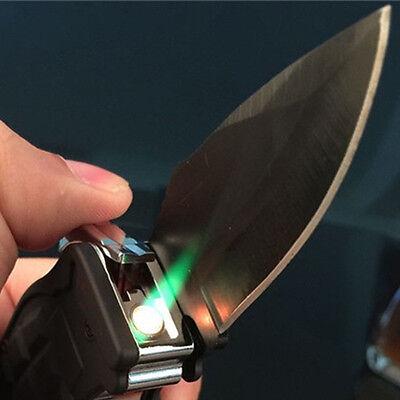 Windproof Refillable Butane Gas Camouflage Cigarette Lighter Folding Knife New