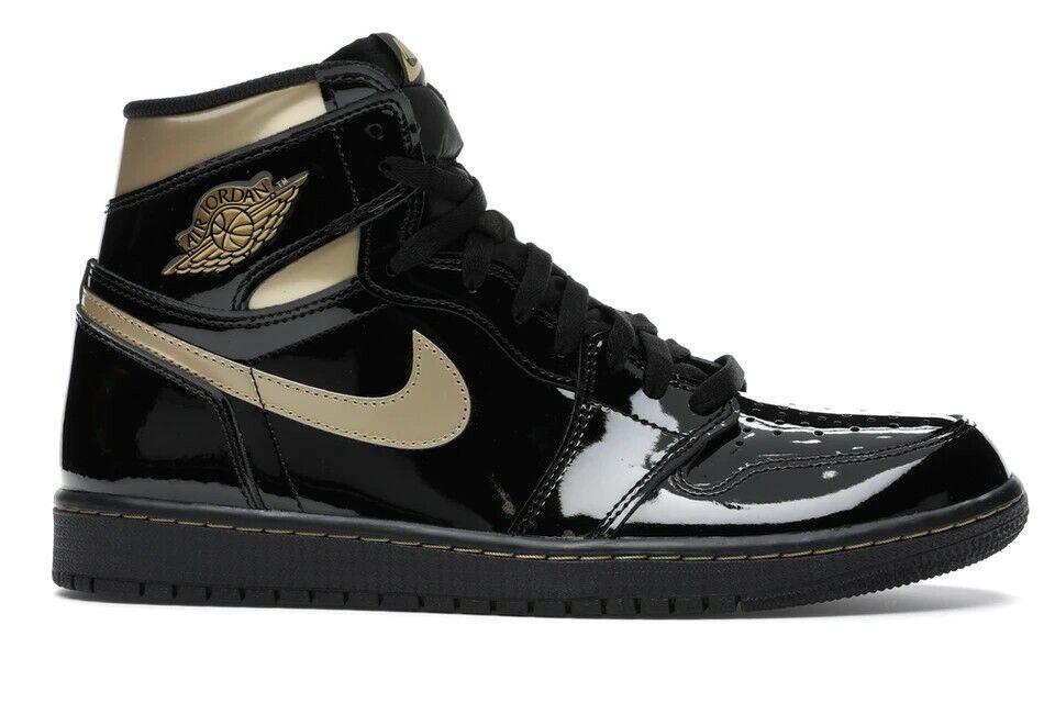 Jordan 1 Retro High OG Men's Athletic Shoes - Black Metallic/Gold Size 10.5/11