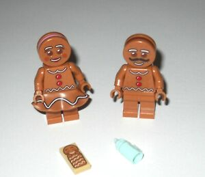 Lego Gingerbread Man /& Gingerbread Woman and Baby Minifigures 10267 NEW