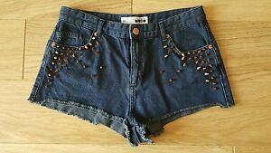 Topshop-denim-studded-shorts