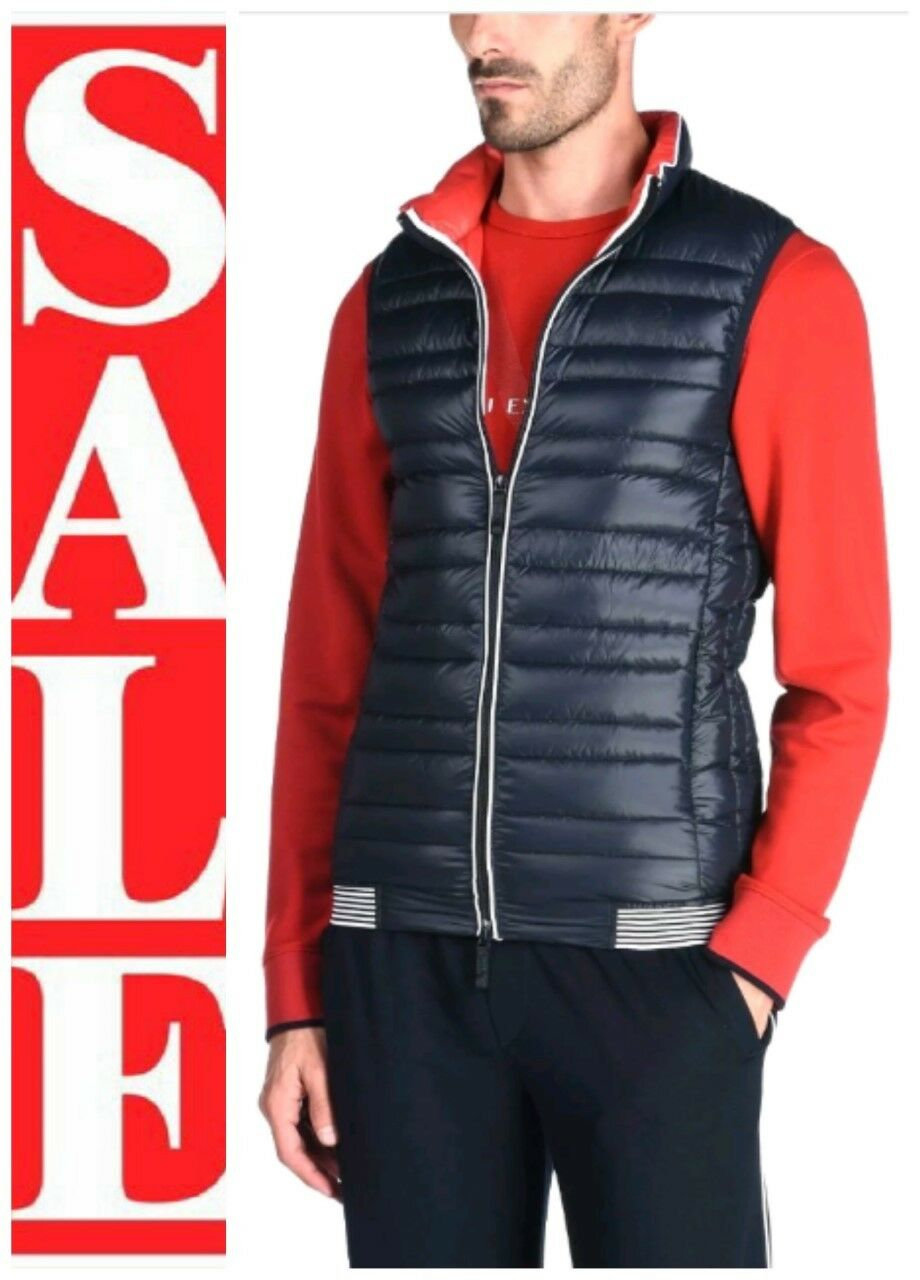 ARMANI EXCHANGE Mens A X LOGO Quilted DOWN FILLED Puffer Vest with TOTE