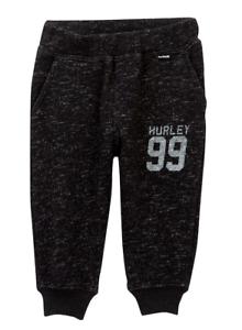 Hurley-Baby-Little-Boys-Black-Retreat-Fleece-Logo-Sweatpants-Pant-NEW-Tags-40