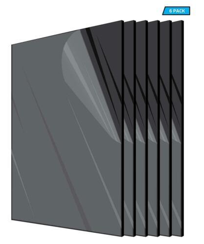 "Plexiglass Acrylic Black Color 1//8/"" x 12/"" x 12"" Plastic Sheet Pack Of 6 Pieces"