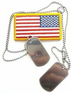 STAINLESS//BRASS//BLACK//COPPER 1x long /&1 short CHAINS FOR MILITARY//ARMY DOG TAGS