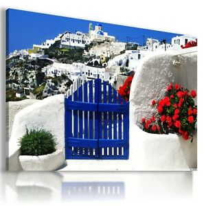 GREECE-SANTORINI-CITY-View-Canvas-Wall-Art-Picture-Large-SIZES-L41-X-MATAGA
