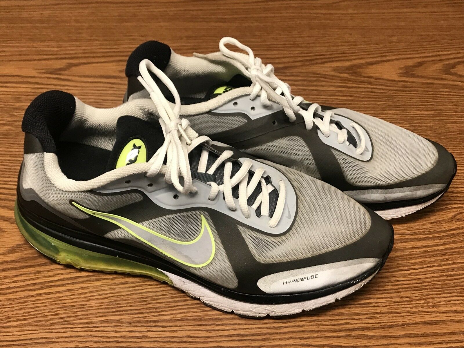 low priced e0912 969f7 get nike 454347 003 hombres air max hyperfuse negro gris 14 volt verde  zapatilla sz 14