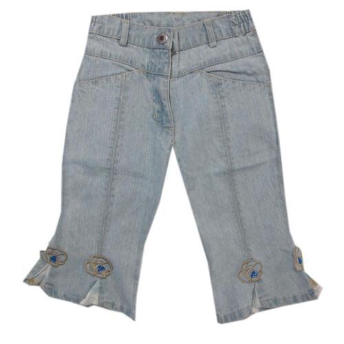 Libel Pantalons Pantalon Court Jeans Capri Bleu coton fille taille 98,116,122,128,134