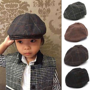 6158c7d9d4 Kids Baby Girl Boy Beret Hat Peaked Cap Child Leisure Caps Photo ...