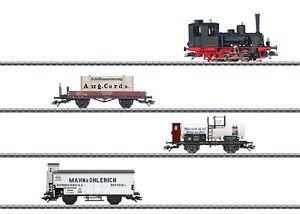 Maerklin-H0-26614-Zugset-034-800-Jahre-Rostock-034-mit-BR-89-und-3-Gueterwagen-NEU-OVP