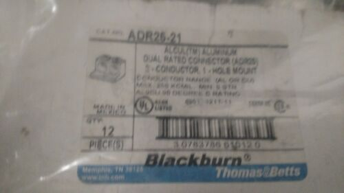 THOMAS /& BETTS ADR25-21 Connector,2 Conductor