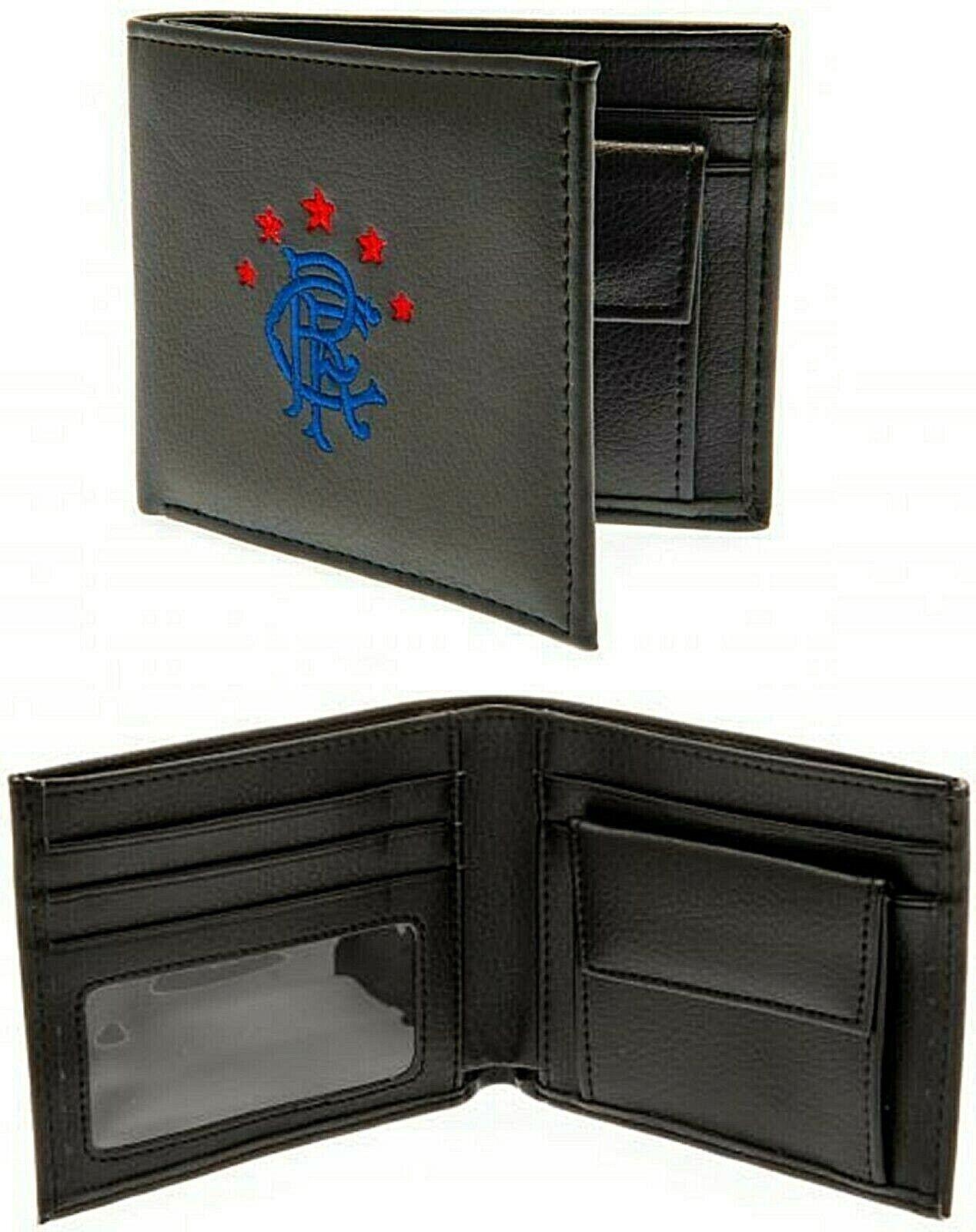 Glasgow Rangers FC Bestickt Crest Leder Money Etui Münze Bargeld Karte Geldbörse