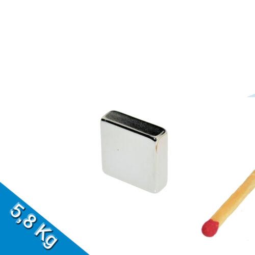 Nickel 20 NEODYM MAGNETE  15 x 15 x 5mm NdFeB N45 Quadermagnet